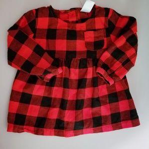 Carter's baby girls checkered dress 18 months